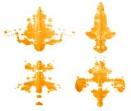 Symmetric paint blot Royalty Free Stock Image