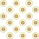 A symmetric pattern on a white background Royalty Free Stock Images