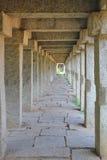 Symmetric pillars at Hampi, India Royalty Free Stock Image