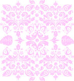 Symmetric pink traditional pattern Royalty Free Stock Images