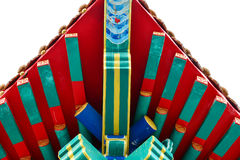 Symmetric roof. Of shrine in chinese shrine Royalty Free Stock Images