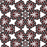 Symmetric seamless pattern black-red. On a white background Stock Photo