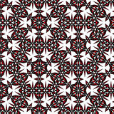 Symmetric seamless pattern black-red. On a white background Royalty Free Stock Images