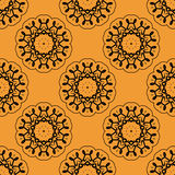 Symmetric seamless wallpaper pattern based on Stock Image