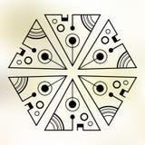 Symmetric shape of geometric triangles. vector illustration