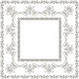 Symmetric square pattern, brush, vector illustration Royalty Free Stock Photo