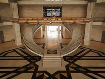 Symmetric stairs of the Museum of Islamic Art Stock Image