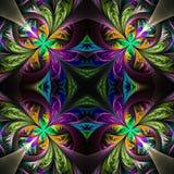 Symmetric stubarwny fractal maswerk Kolekcja - mroźny patt ilustracji
