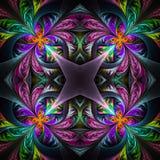 Symmetric stubarwny fractal maswerk Kolekcja - mroźny patt royalty ilustracja