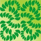 Symmetric tło zieleni płatki Obrazy Stock