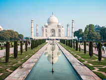 Symmetric Taj Mahal Royalty Free Stock Images