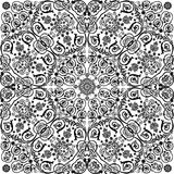 Symmetric traditional black curled ornament Royalty Free Stock Photography