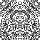 Symmetric traditional black curled pattern Royalty Free Stock Image