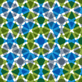 Symmetric transparent decorative seamless pattern Royalty Free Stock Photography