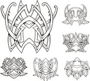 Symmetric tribal knot tattoos Royalty Free Stock Photo