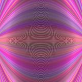Symmetrical abstract dynamic background from thin curved lines - vector illustration. Symmetrical abstract dynamic background from thin curved lines in pink Royalty Free Stock Photography