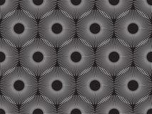 Symmetrical Abstract Optical Seamless Pattern Vector. Illustration Stock Photos