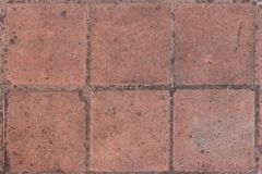 Square brick floor pattern of the castle of Visegrad, Hungary stock photography