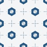 Symmetrical background with center bolt vector illustration Stock Photography