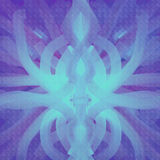 Symmetrical background paint in azure and violet Stock Image