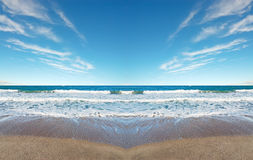 Symmetrical beach Royalty Free Stock Photos