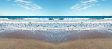 Symmetrical beach Stock Photography