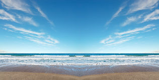 Symmetrical beach Stock Photos