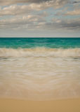 Symmetrical Beach Waves - Vertical, Natural Sky. Wave pattern with simple color palette Stock Images