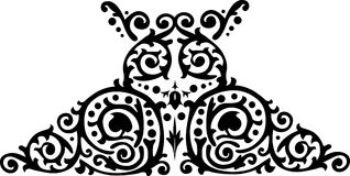 Symmetrical black pattern Stock Photos