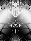 Symmetrical Black White Swirls Royalty Free Stock Photo
