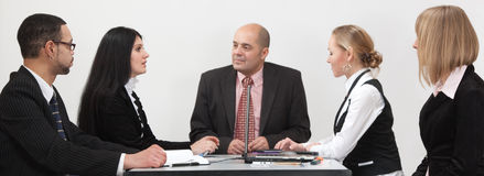 Symmetrical business group stock image