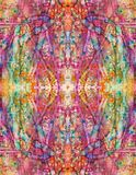 Symmetrical Catharsis - Pink Abstract Painting vector illustration