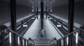 Symmetrical central station Berlin Stock Image