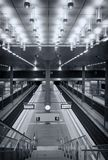 Symmetrical central station Berlin Royalty Free Stock Image