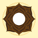 Symmetrical circle. guilloche circle shape. vector illustration. Stock Photography