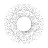 Symmetrical circle. guilloche circle shape. vector illustration. Royalty Free Stock Photography