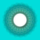Symmetrical circle. guilloche circle shape. vector illustration. Stock Photos