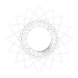 Symmetrical circle. guilloche circle shape. vector illustration. Stock Photo
