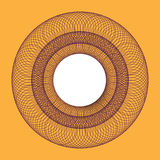 Symmetrical circle. guilloche circle shape. vector illustration. Royalty Free Stock Photo