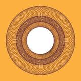Symmetrical circle. guilloche circle shape. vector illustration. Royalty Free Stock Photo