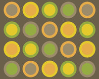 Symmetrical circles background. Brown, yellow, green and orange circles graphic design royalty free illustration