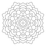Symmetrical circular pattern mandala. Decorative Oriental pattern. Coloring page for adults royalty free illustration