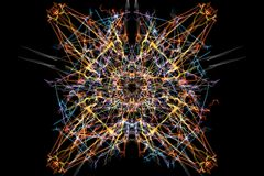 Symmetrical and colorful design. Digital graphic Stock Photography