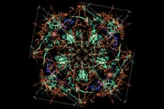 Symmetrical and colorful design. Digital graphic Royalty Free Stock Photos