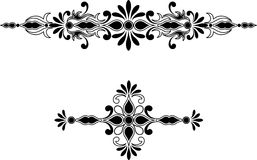 Symmetrical decorative ornament Stock Photos