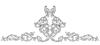 Symmetrical decorative ornament Royalty Free Stock Images
