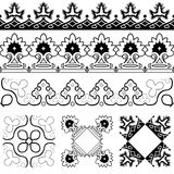 Symmetrical design elements Stock Image