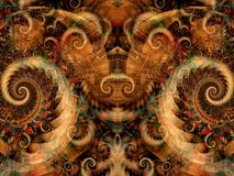 Symmetrical Fantasy Texture Stock Images