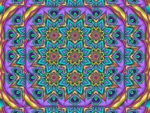Symmetrical floral abstract pattern. Created in a fractal program Stock Photography