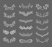 Symmetrical floral graphic design elements Royalty Free Stock Photos
